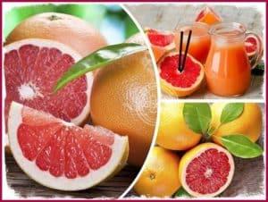 Коллаж грейпфрут