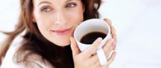 женщина с кофе