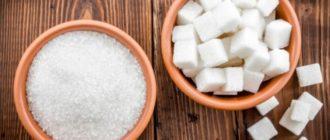 Сахар в тарелке