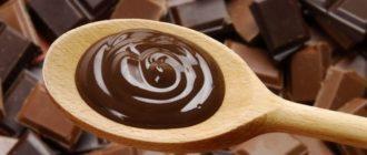 Шоколад на ложке
