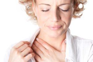 Пульс в горле